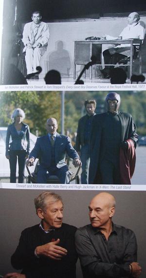 Ian McKellen ja Patrick Stewart ovat tehneet ennenkin yhteistyötä: näytelmässä Every Good Boy Deserves Favour, X-Men -elokuvissa ja nyt Beckettin parissa.