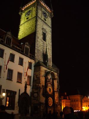 Astronominen kello vanhan kaupungin puolella.