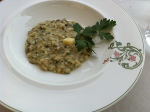 Risotto with porcini mushrooms and cheese from the Conesi valley