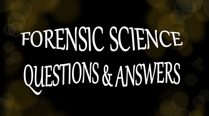 50 ONE WORD Forensic  Q&A