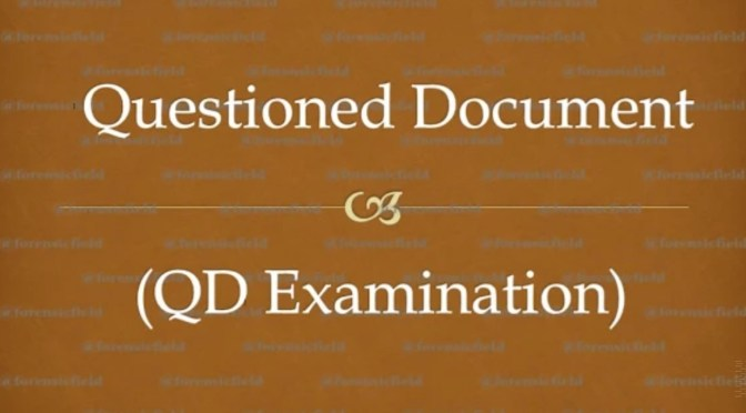 Questioned Document