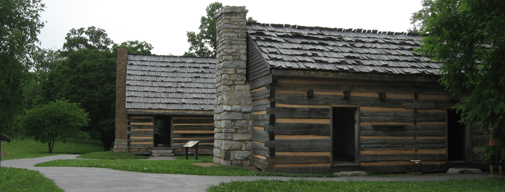 Log Cabin Reproductions at The Hermitage in Heritage, Tennessee