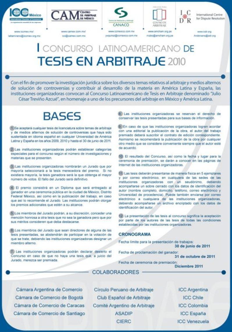 I Concurso Latinoamericano de Tesis en Arbitraje 2010.jpg