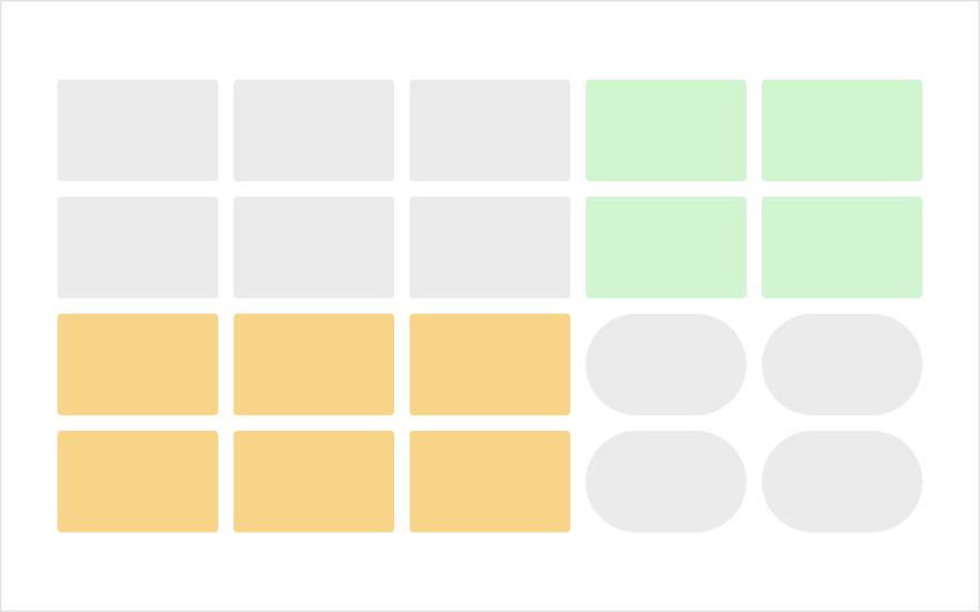 視線誘導:同形・同色