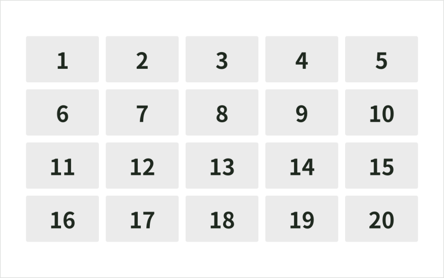 視線誘導:数の順序