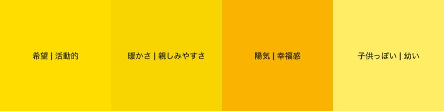 黄色のパターン例