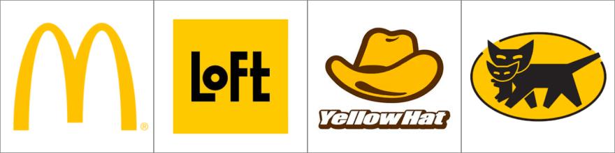 黄色のロゴ例