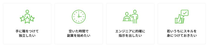 DMM WEBCAMP SKILLS Webアプリ開発コースはこんな方におすすめ