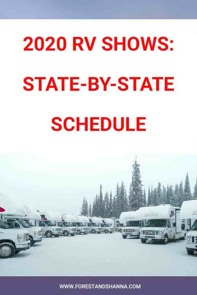RV Show and State by State Schedule for 2020