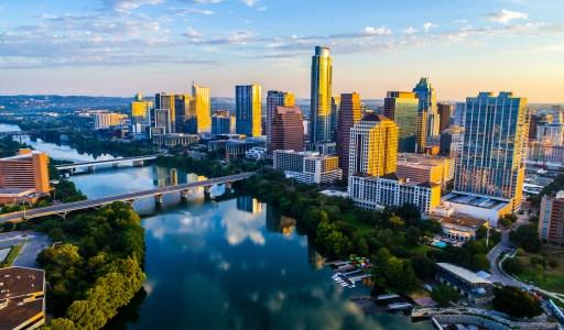 Texas city skyline