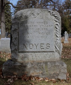 Noyes Monument, Section 3. Photo by Marisa Gomez.