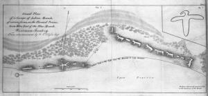 A map diagram of Indian effigy mounds seven miles east of Blue Mounds in the Wisconsin Territory produced in 1838. Wisconsin Historical Society Image 5173. Many such maps were created by Wisconsin's early mound researchers. Often, these maps serve as the only record of mounds destroyed by farming or urban expansion.