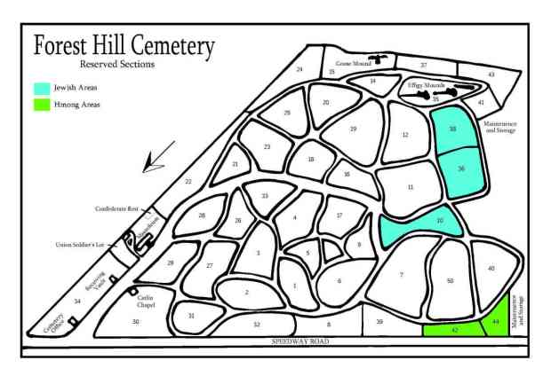 Forest Hill Cemetery Reserved Sections
