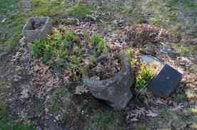 Ferber Baby Grave with Fallen Planter