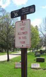 Sign Prohibiting Dog Walking