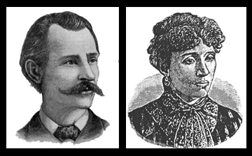 Image result for Albert Parsons, head of the Chicago Knights of Labor, with his wife Lucy Parsons & two children, led 80,000 people down Michigan Avenue,