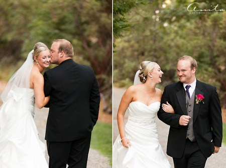 bride and groom foresthill pictorial