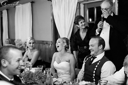 forest house lodge wedding reception and delivering speeches