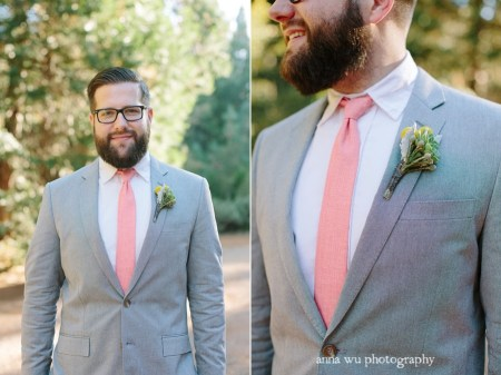 groom in a gray suit