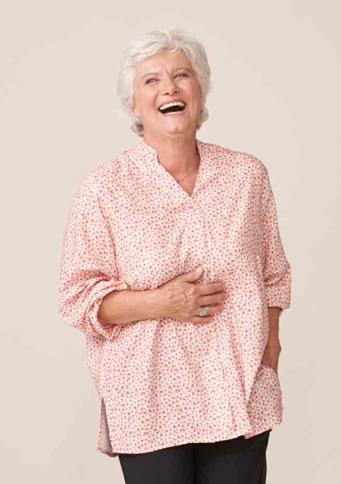 forestime vetement adapté senior blouse imprimé rose thais