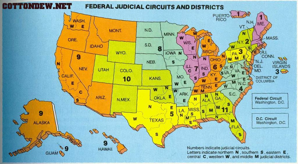 Map Of Federal Courts A New Century Of Forest Planning - Us federal circuit map