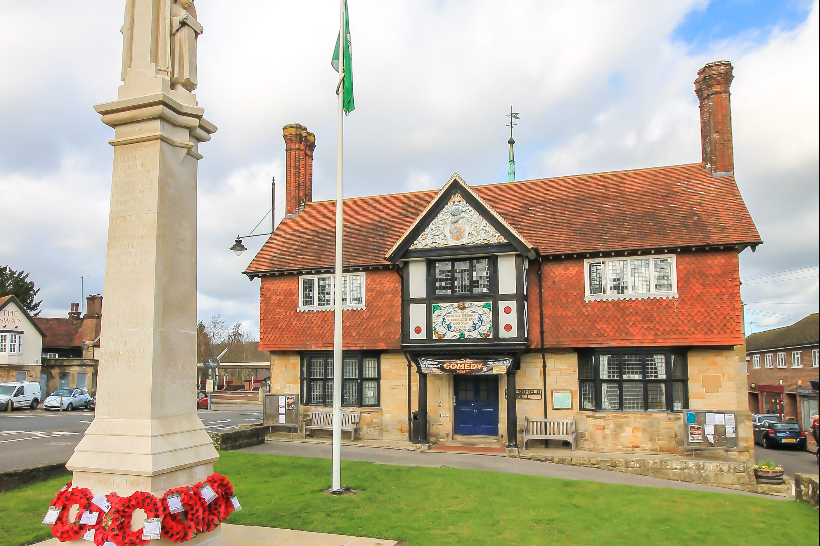 Forest Row Village Hall with War Memorial