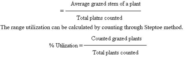 Range Utilizatio - Stem Count Method - Forestrypedia