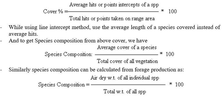 Species Composition - Range Management - Forestrypedia