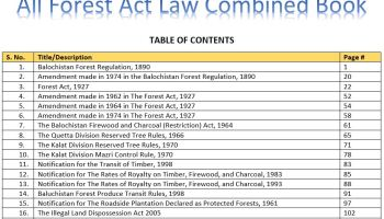 All Forest Law(s) Combined Book - All Forest Notifications