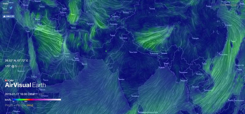 AirVisual Earth Shows Real Time Air Pollution in 3D Wind Data - Forestrypedia