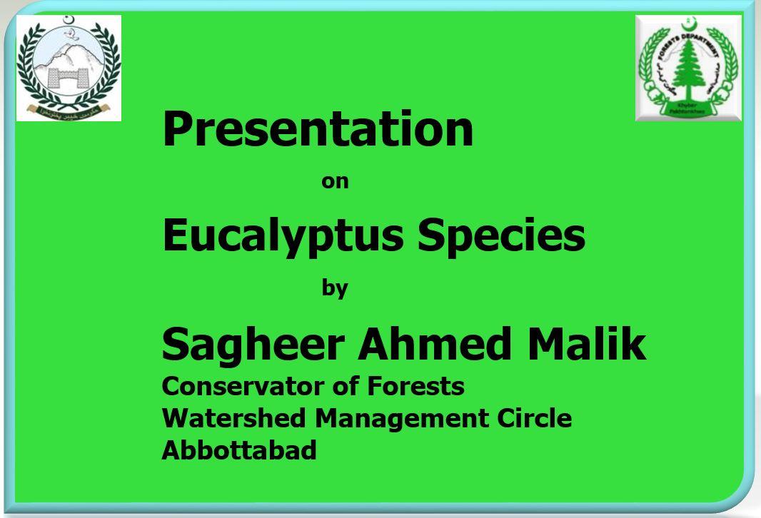 Presentation on Eucalyptus Species - Forestrypedia