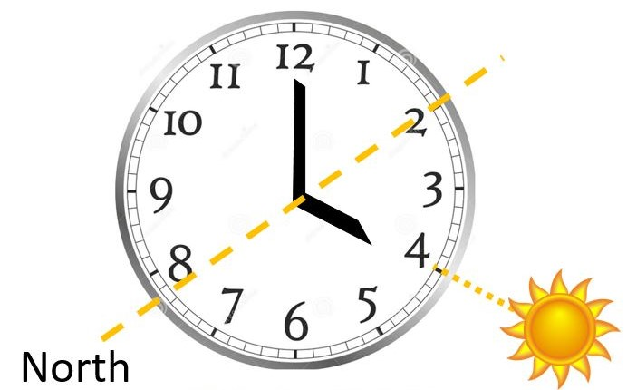 All you need to is to take the watch off and align the hour hand with the sun. - techurdu.net