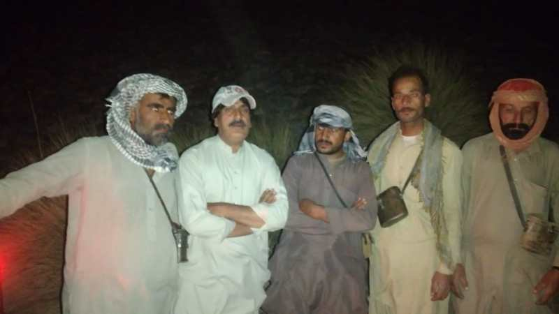 Mr Nazir Ahmed Kurd (2nd-left) with staff of Hazarganji Chiltan National Park Balochistan - forestrypedia.com