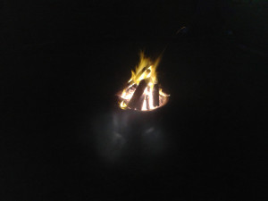 Campfire in the orchard