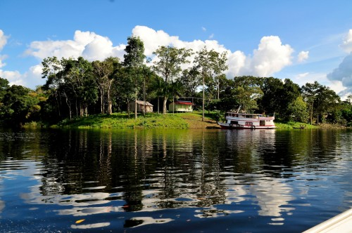 People living along the Amazon's rivers are shifting from agriculture to more agroforestry and forestry to weather extreme flooding events. Neil Palmer/CIAT