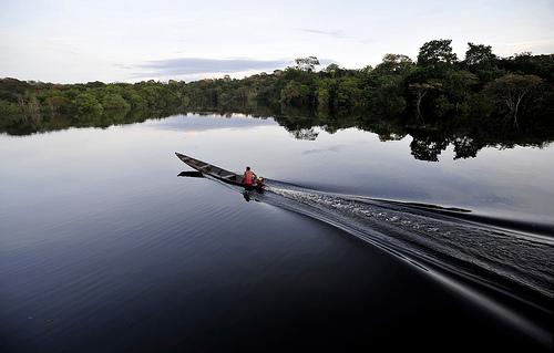 Amanecer en la frontera de la Reserva Juma en la Amazonía brasilera. Fotografía de Neil Palmer/CIAT para CIFOR