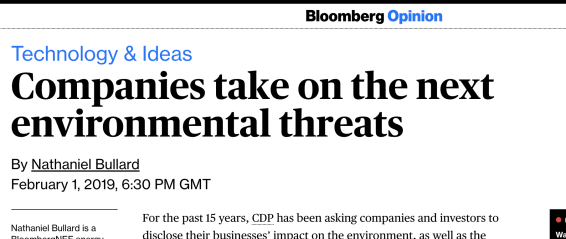 Bloomberg CDP business climate change adaptation