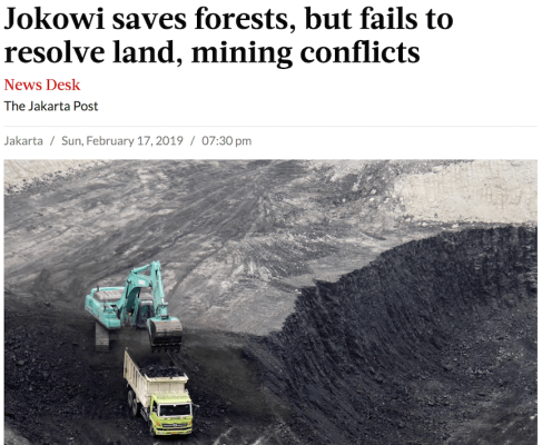 Jokowi, forests, mining, Indonesia, Jakarta Post