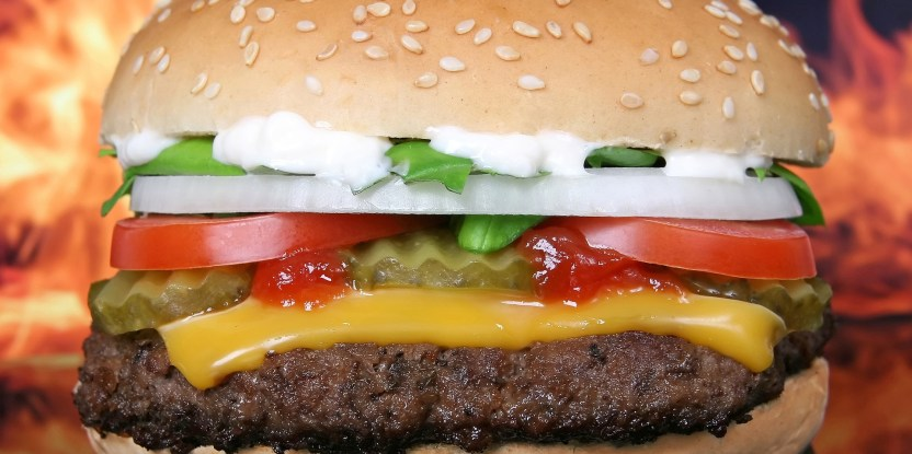 hamburger, fast food giants asked by investors to curb climate change. McDonald's, Domino's, Burger King, KFC