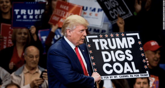donal trump, president trump, trum, mr trump, coal, fossil fuels, trump digs coal, the paris agreement