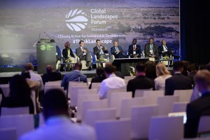 A discussion forum at the 2016 Global Landscapes Forum in Marrakesh dealt with issues of regreening the Sahel. Photo: Pilar Valbuena/CIFOR
