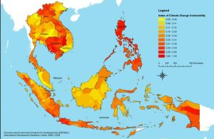 Index of climate vulnerability. Source: Economy and Environment Program for Southeast Asia