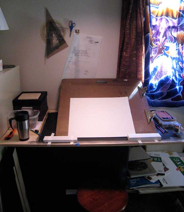 New drawing set-up in the studio...