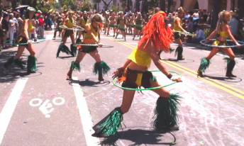 Picture from final section of actual hoop performace.