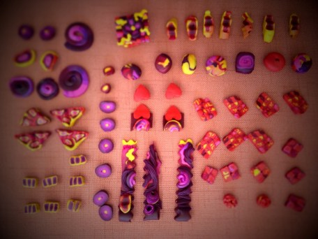 All the polymer clay beads...