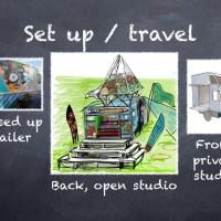 Mobile art studio - updated