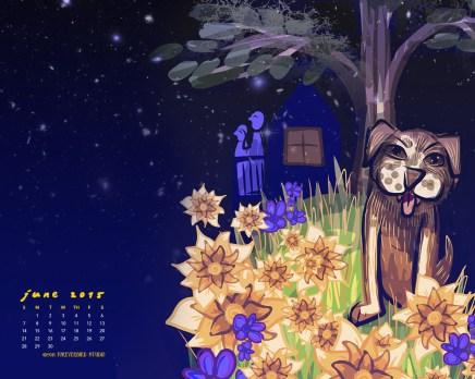 1280 × 1024 June 2015 Calendar Art