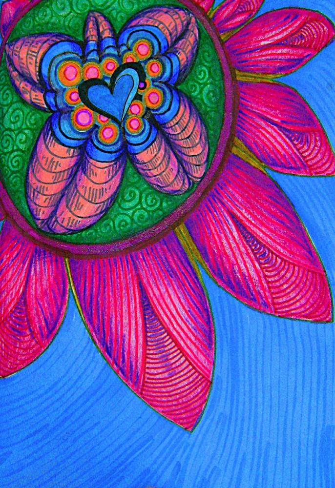 Heart Center Flower