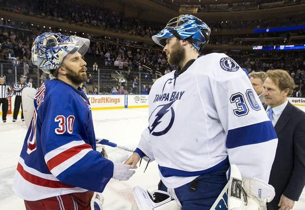 Lundqvist shakes Bishop's hand (Getty)