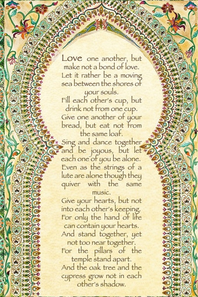 kahlil gibran on love